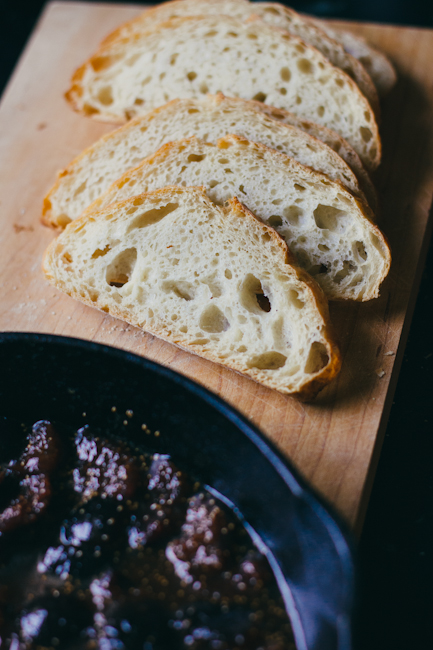 Sliced Bread and Fig Compote   Artisan Bread in Five Minutes a Day