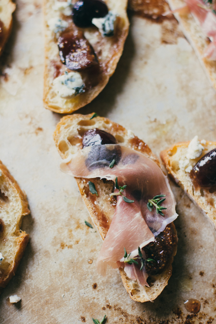 Bruschetta with Figs, Blue Cheese and Prociutto | Artisan Bread in Five Minutes a Day