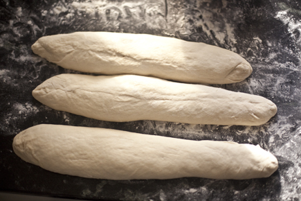 Bread dough shaped into 3 loaves | Artisan Bread in Five Minutes a Day