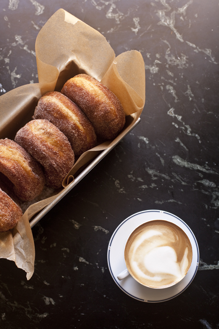 Fresh Homemade Doughnuts with a cup of coffee | Artisan Bread in Five Minutes a Day