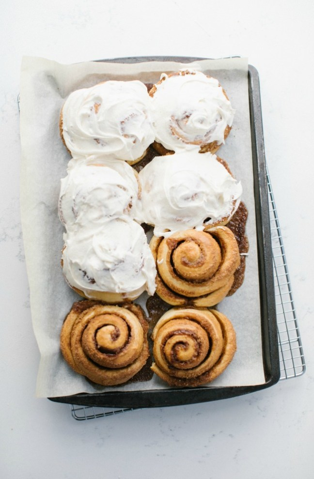 Truck stop cinnamon rolls with cream cheese icing