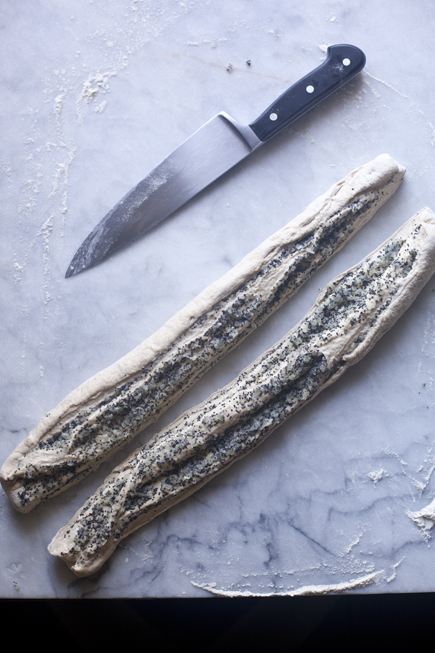 Slicing Onion Poppy Seed Twist Bread | Artisan Bread in Five Minutes a Day