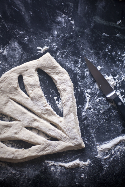 Fougasse Before Baking | Artisan Bread in 5 Minutes a Day