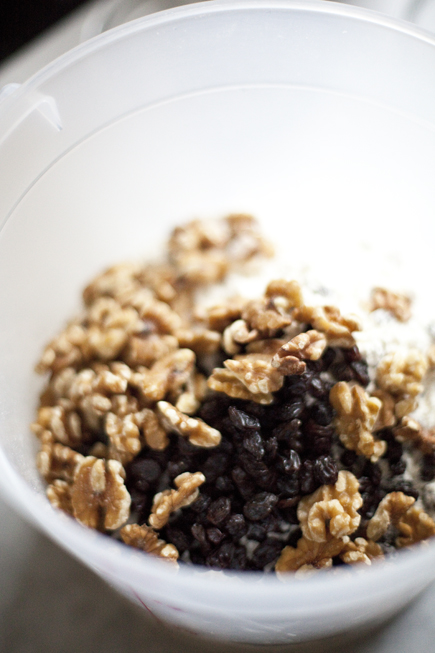 A bowl of raisins and walnuts | Artisan Bread in Five Minutes a Day
