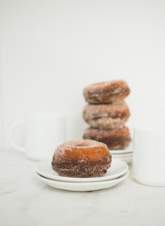 pumpkin brioche doughnuts