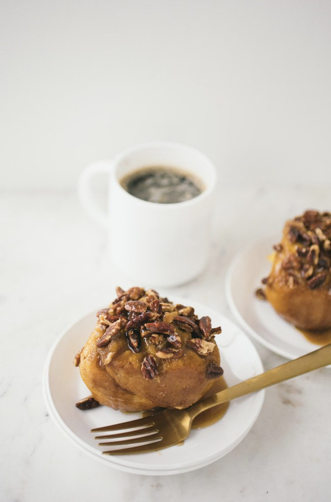 Pumpkin Sticky Nut Rolls