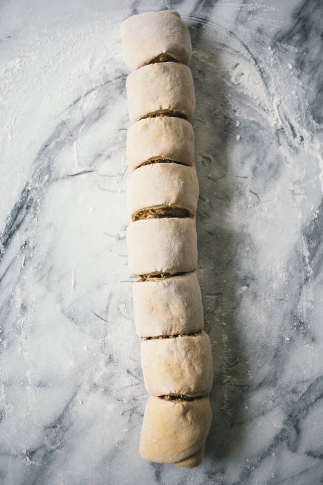 Slicing Nut Rolls Before the Oven   Artisan Bread in Five Minutes a Day