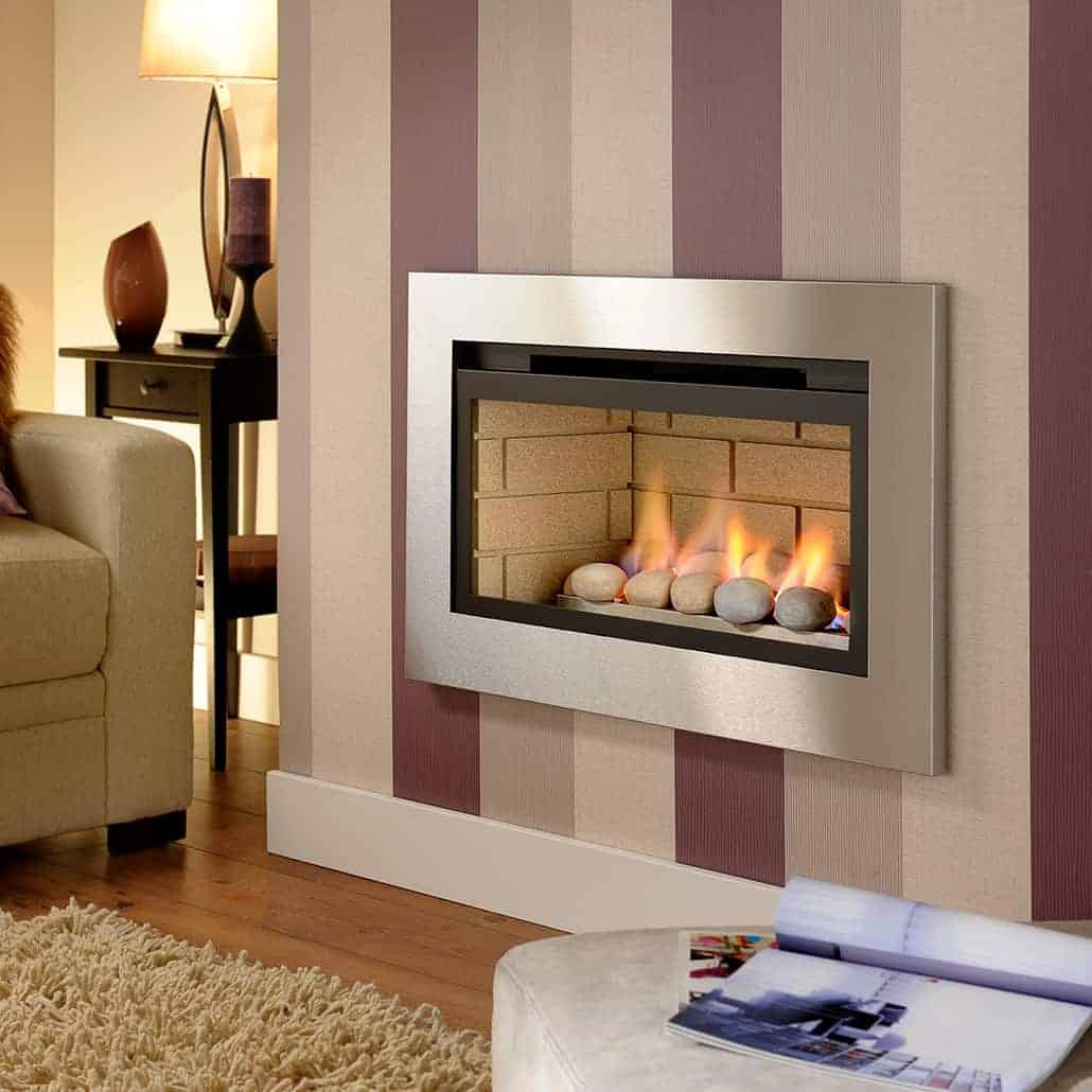 Artisan Boston Glass Fronted Gas Fire