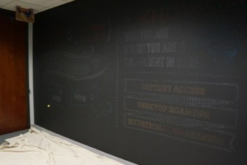 Custom Chalk Wall