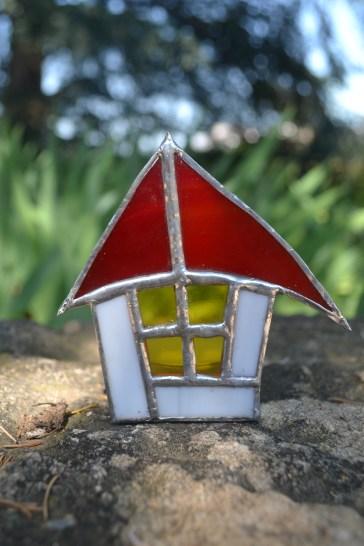 Photophore maisonnette rouge
