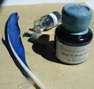 Encre pour les Arts au bleu de pastel véritable, 30 ml cacheté.