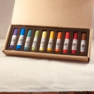 Coffret de 10 pastels tendres et secs decouverte de L'Artisan Pastellier