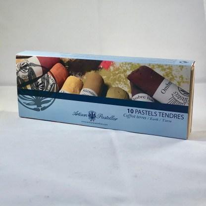 Coffrets de 10 pastels tendres et secs par L'Artisan Pastellier