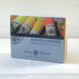 Coffrets de 4 pastel tendres et secs de L'Artisan Pastellier