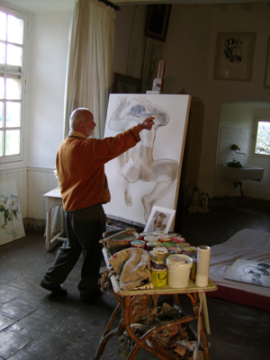 L'artiste en mouvement. The gesture of the artist.