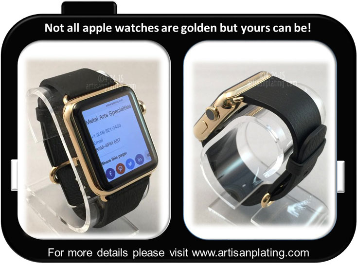 Apple stainless steel watch