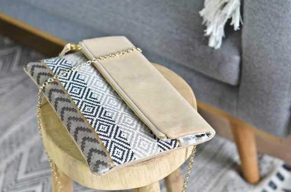Pochette Tissu cuir atelier Amand