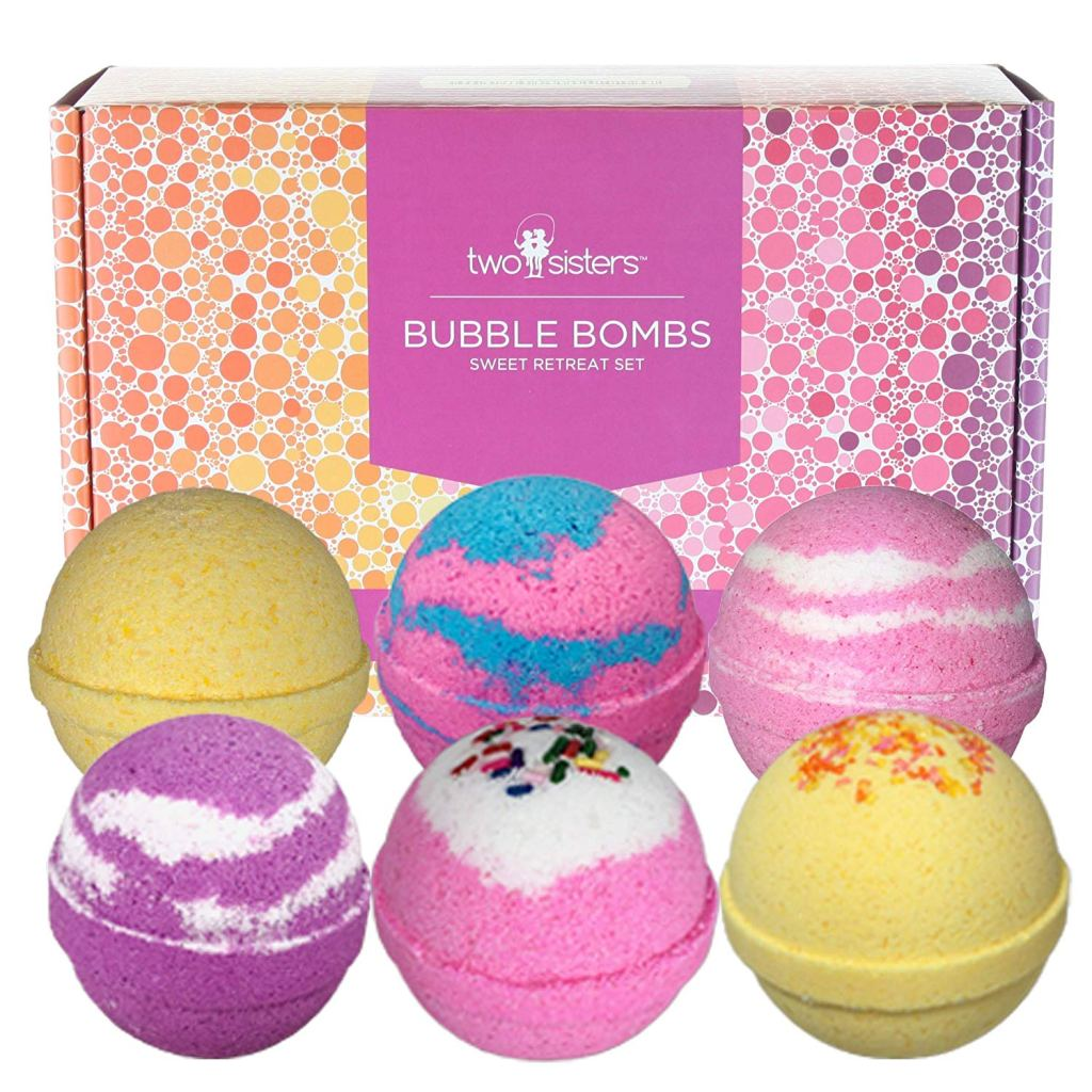 Sweet Retreat Birthday Bubble Bath Bombs Gift Set by Two Sisters Spa