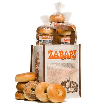 Zabar's Original New York Bagels NYC Kosher