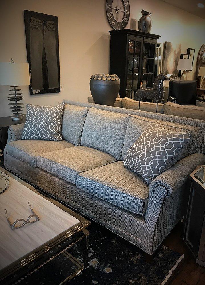 Artis Furniture Greige Herringbone Sofa