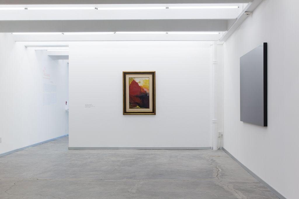 David Alfaro Siqueiros, Estudio para mural, 1970, y Rubén Ortiz Torres, Para los 43, 2015. Cortesía: Colección ESPAC