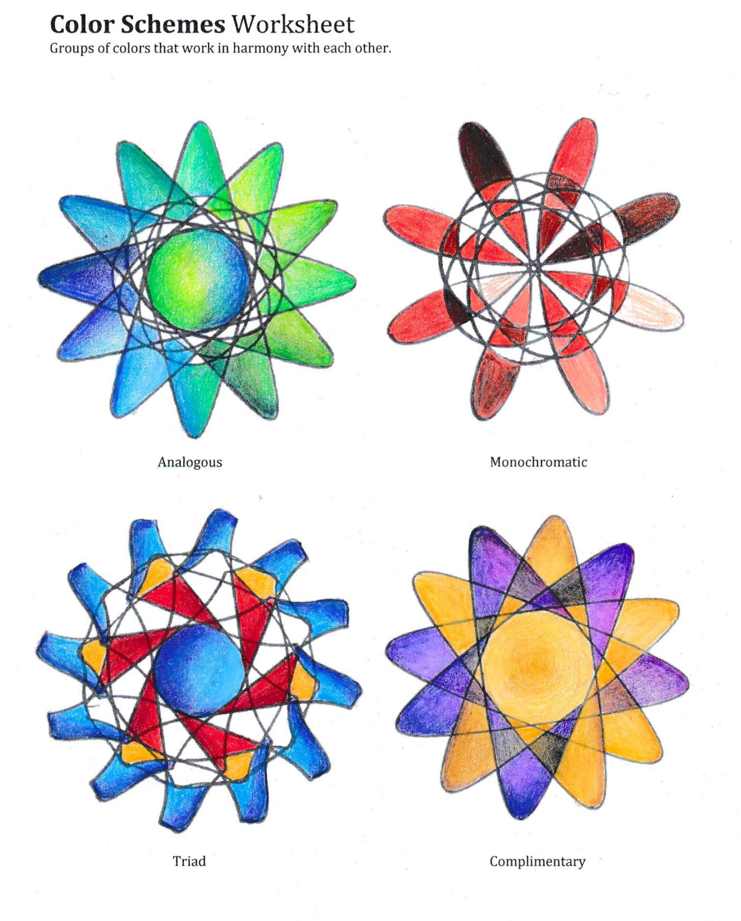 Color Schemes Worksheet