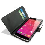 Adarga Leather-Style OnePlus One Wallet Stand Case