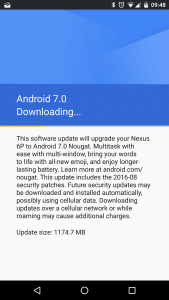 Android 7.0 Downloading