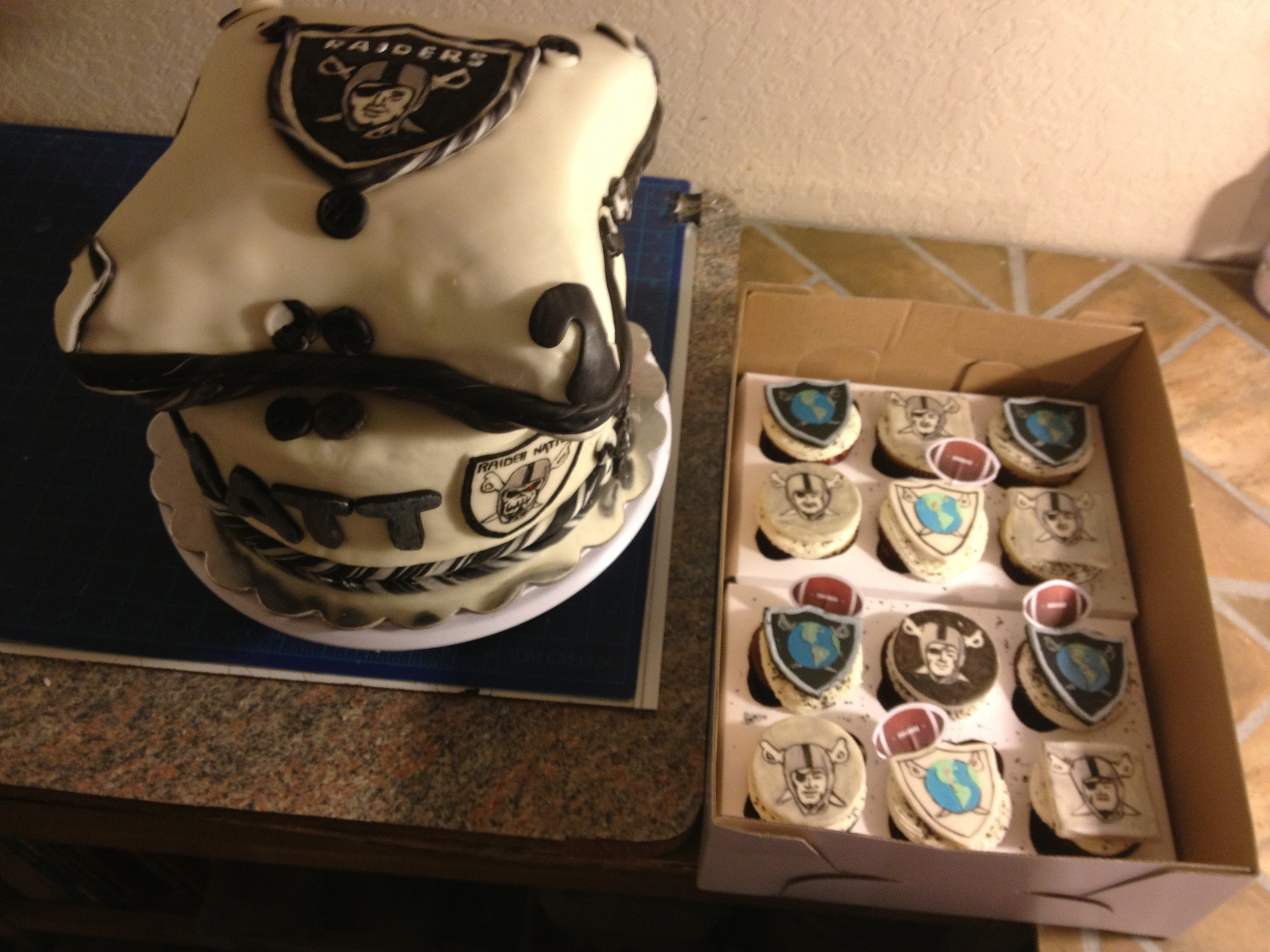 Raiders Cake Completed Here Are Some Close Ups Of The