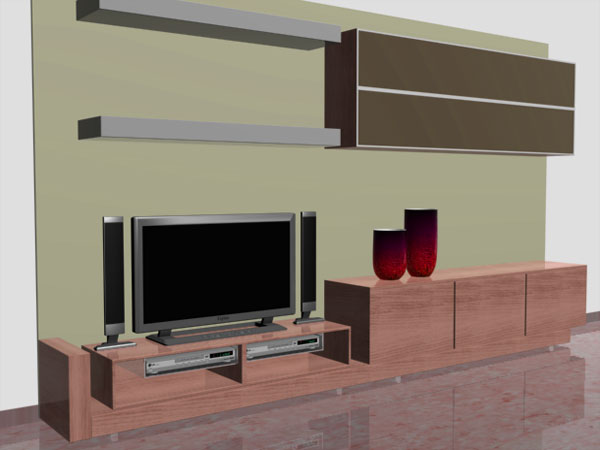 Living Room Furniture Recibidor Simple 3ds 3D Studio
