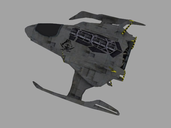 Ghoul Fighter Sci-fi cosmos spaceship, (.obj) OBJ software ...