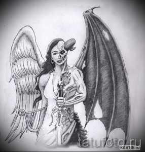 Ангел и демон рисунки карандашом – Как нарисовать демона и ...