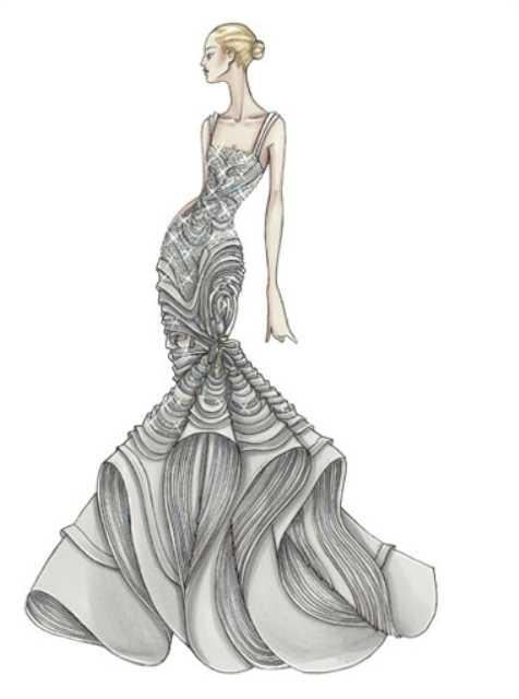 Для срисовки платья – Девушки в платьях картинки для срисовки