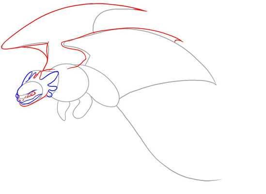 Как нарисовать дракона из как приручить дракона 2 поэтапно ...
