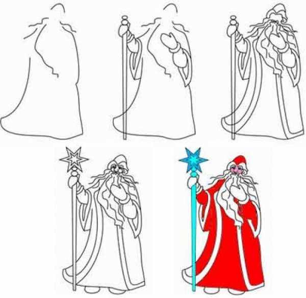 Как нарисовать снегурочку и деда мороза карандашом – Как ...