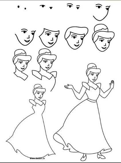 Рисунки карандашом золушки – Как нарисовать золушку ...