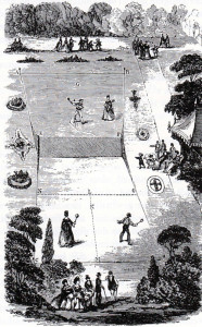 hourglass tennis court, originally designed by Major Wingfield
