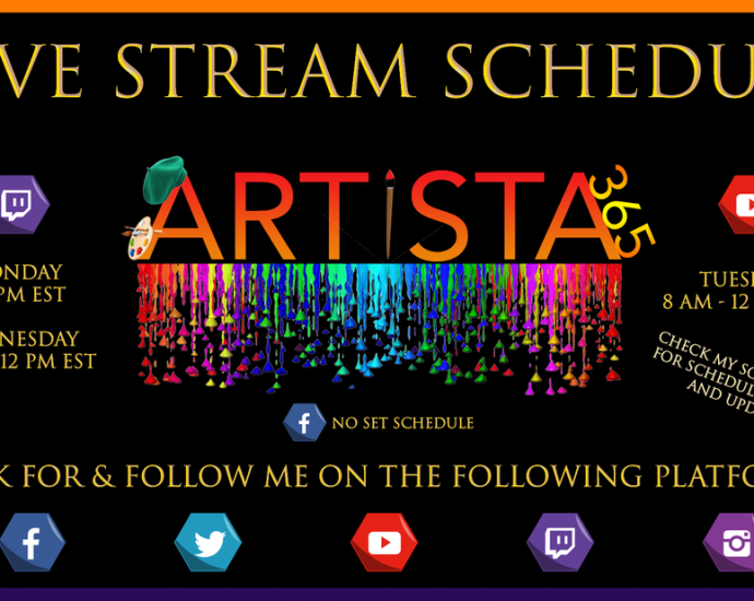 Artista 365 Livestream Schedule
