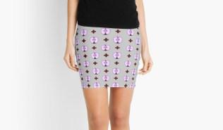 black apple skirt
