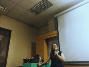 S30 Artistic Director Keavy Vicente for the Scriptwriting workshop.
