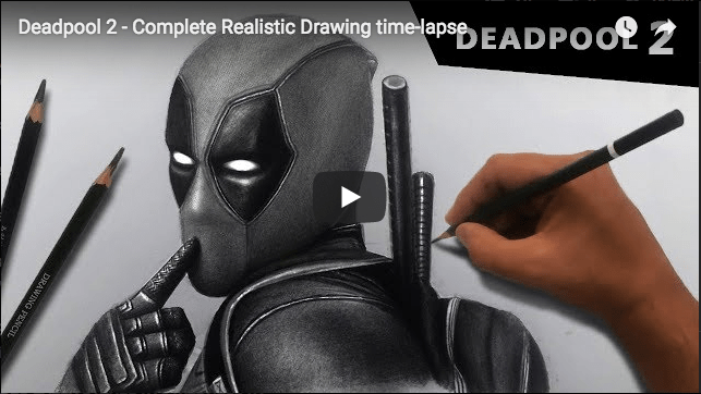 DRAWING TUTORIAL: Deadpool 2 – Complete Realistic Drawing