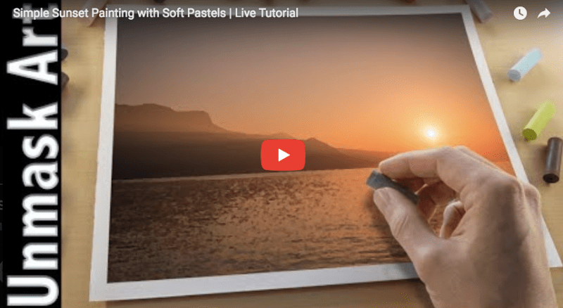 Pastel Tutorial Simple Sunset Painting With Soft Pastels Artist Connect