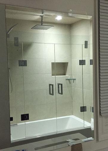 Glass Header Tub Enclosure