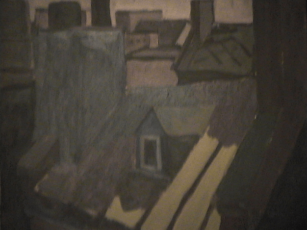 Tôle canadienne - 1977-1979 Acrylique sur masonite 51cm X 41cm Louis Fortier