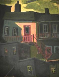 Galerie orange - 1977-1979 Acrylique sur masonite 61cm X 77cm Louis Fortier