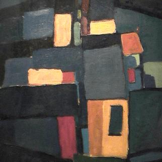Cubes - 1980 Acrylique sur masonite 41cm X 51cm Louis Fortier PRIX : 475$