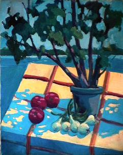 L'arbre à pick-nick - 1984 Acrylique sur toile 61cm X 76cm Louis Fortier