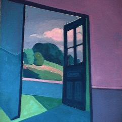 La porte de la nature - 1984 Acrylique sur toile 61cm X 76cm Louis Fortier PRIX : 325$