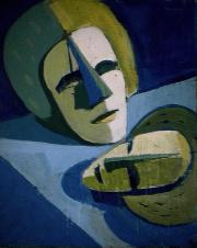 Ouverture d'esprit - 1984 Acrylique sur masonite 21cm X 26cm Louis Fortier