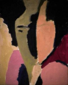 Rêveur - 1984 Acrylique sur masonite 21cm X 26cm Louis Fortier